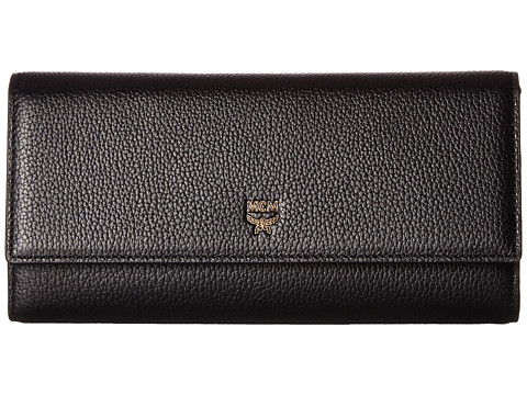 MCM Milla Large Three Fold Wallet - Black