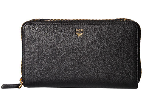 MCM Milla Double Zip Wallet Crossbody - Black