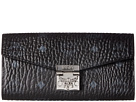 MCM Patricia Visetos Large Two Fold Wallet with Chain