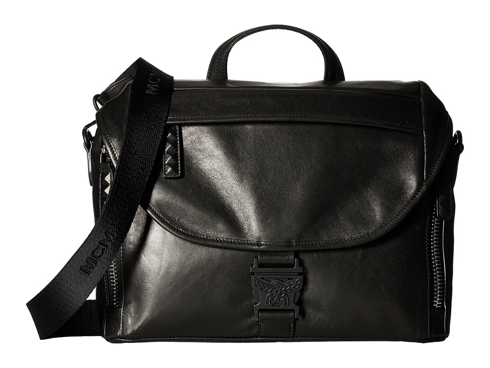 MCM Killian Leather Medium Messenger (Black) Messenger Bags