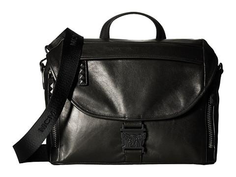 MCM Killian Leather Medium Messenger - Black