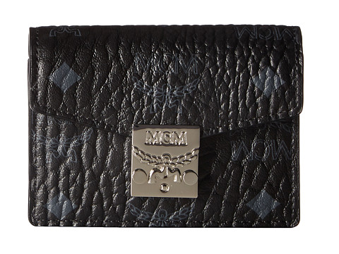 MCM Patricia Visetos Accordion Card Mini Wallet - Black