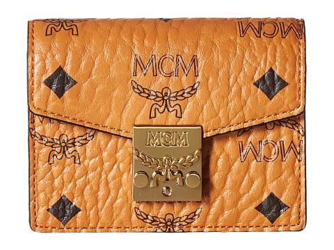 MCM Patricia Visetos Accordion Card Mini Wallet - Cognac