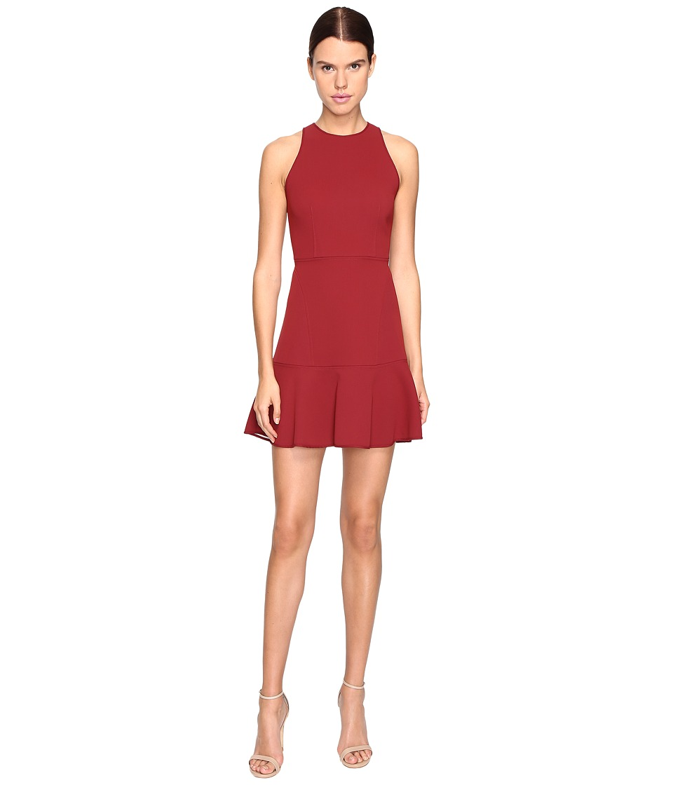 Theory Felicitina Bonded Double Crepe Dress (Black Cherry/Classic White) Women