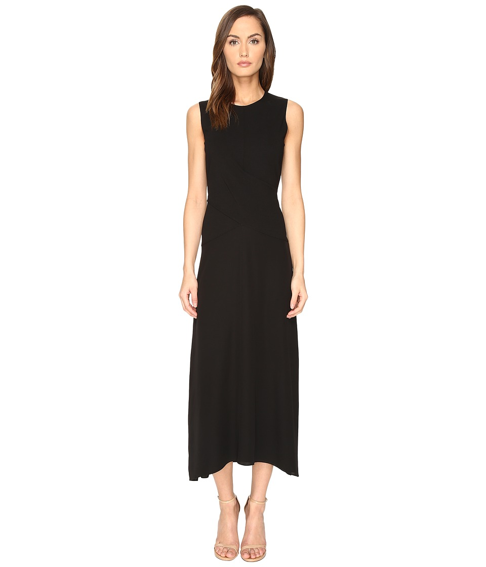Theory Parthenia Fixture Ponte Dress (Black) Women