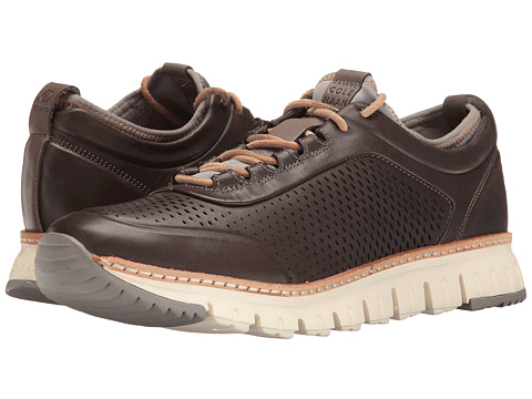 Cole Haan ZeroGrand Perforated Sneakers - Magnet Leather/Ironstone/Sunglow/Natural/Ivory