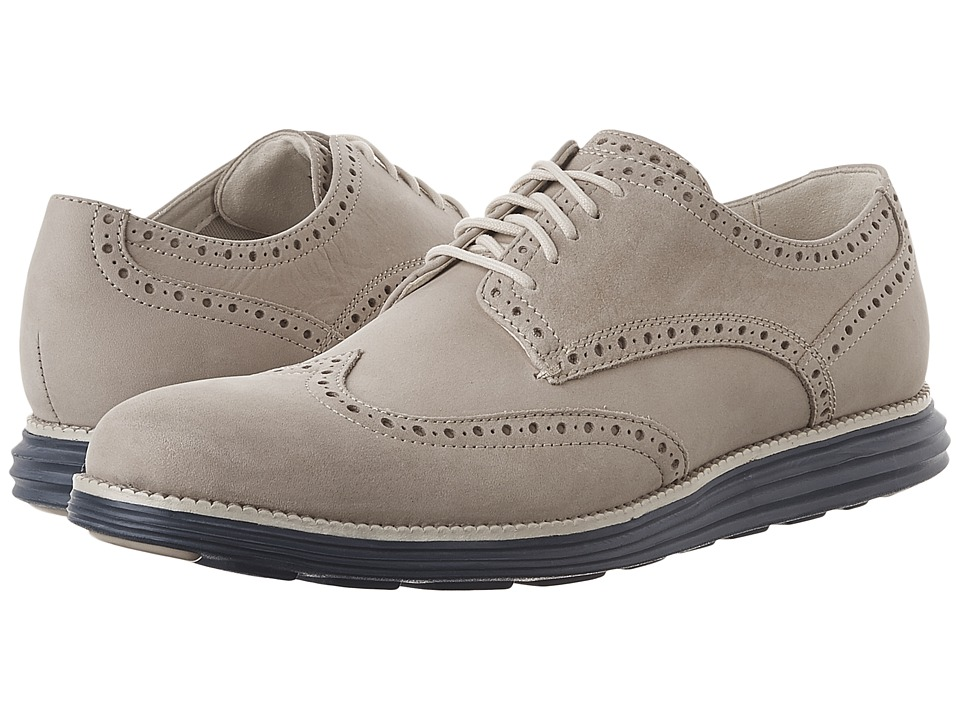 Cole Haan Original Grand Wing Oxford (Barley Nubuck/Ivory/Washed Indigo) Men