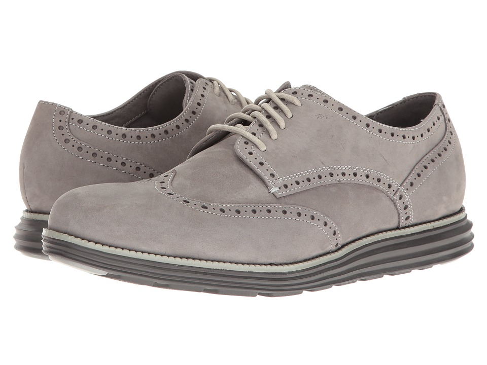 Cole Haan Original Grand Wing Oxford (Ironstone Nubuck/Ivory/Magnet) Men