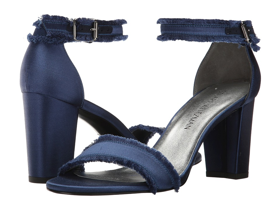 Stuart Weitzman Frayed (Midnight Satin) Women