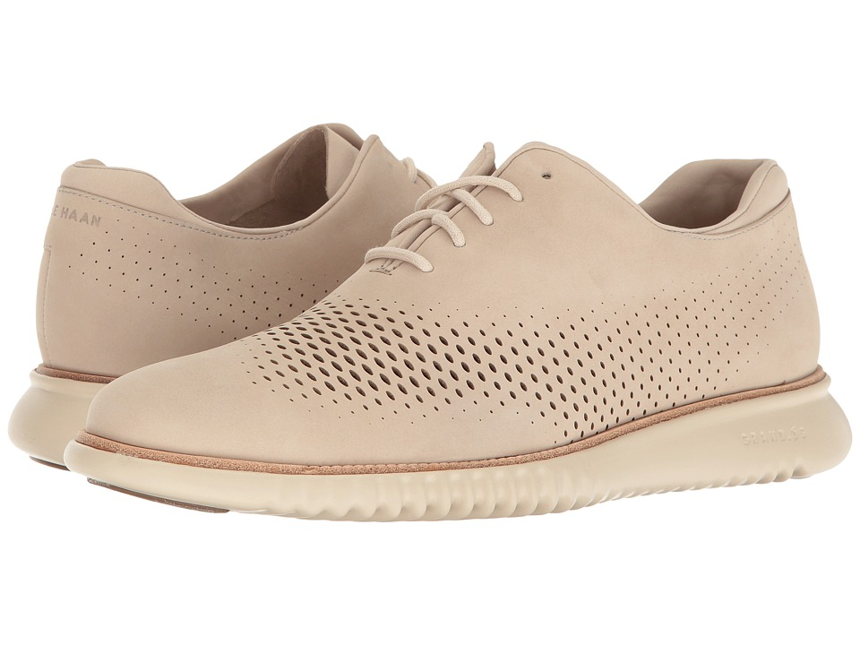 Cole Haan 2.0 Grand Laser Wing Open (Barley Nubuck/Fog) Men