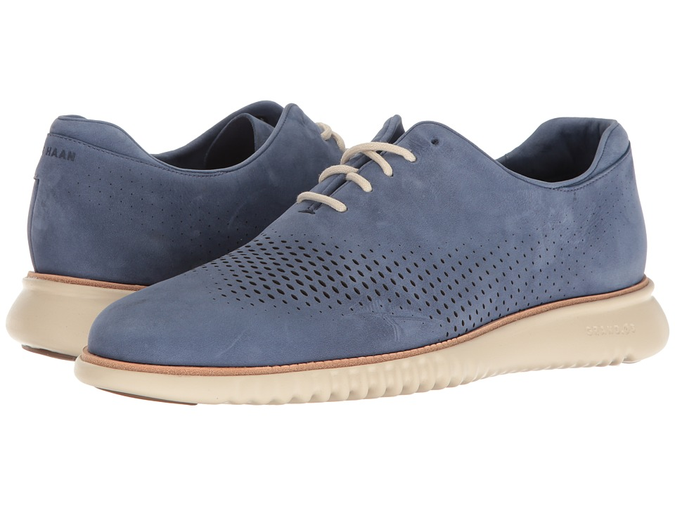 Cole Haan 2.0 Grand Laser Wing Open (Washed Indigo Nubuck/Fog) Men