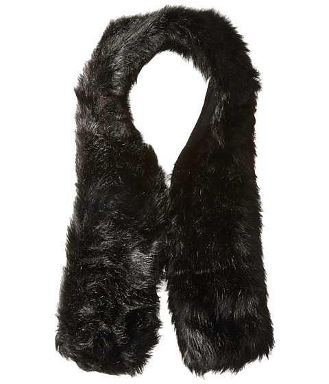 Hat Attack Long Faux Fur Collar - Black