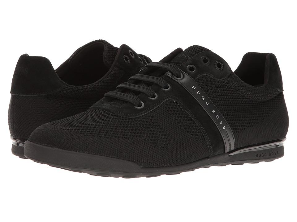 BOSS Hugo Boss Arkansas Low Suede Sneaker (Black) Men