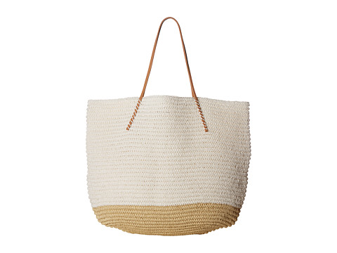 Hat Attack Twisted Tote - White Color Block