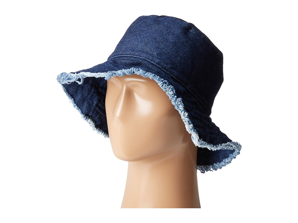 Hat Attack - Frayed Edge Crusher (Dark Denim) Caps