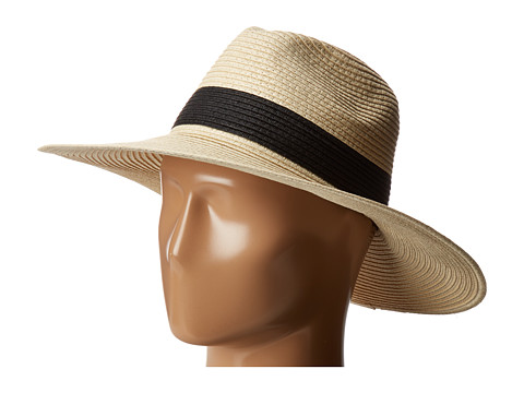 Hat Attack Fine Braid Continental 2 Black Inset Trim - Natural/Black