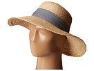 Hat Attack - Raffia Braid Lampshade w/ Striped Band