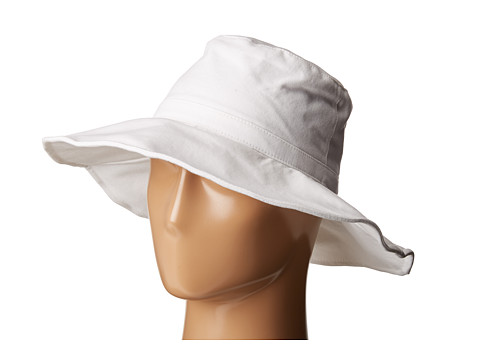 Hat Attack Canvas Sunhat with Adjustable Sizing and Wire in Brim - White