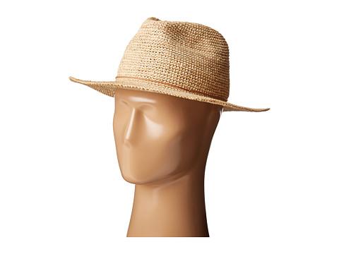 Hat Attack Raffia Crochet Rancher w/ Stone - Cord Trim - Natural
