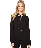 Calvin Klein - Long Sleeve Top with Tie Neck