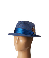 Stacy Adams - Polybraid Pinch Front Fedora with Silk Band