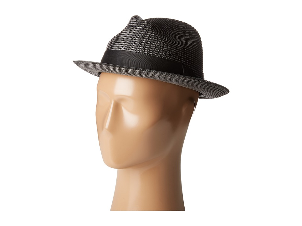 Stacy Adams - Pinch Front Braid Fedora (Black) Fedora Hats