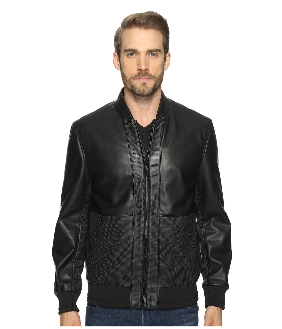 Marc New York by Andrew Marc - Edison Bomber Jacket (Black) Mens Coat