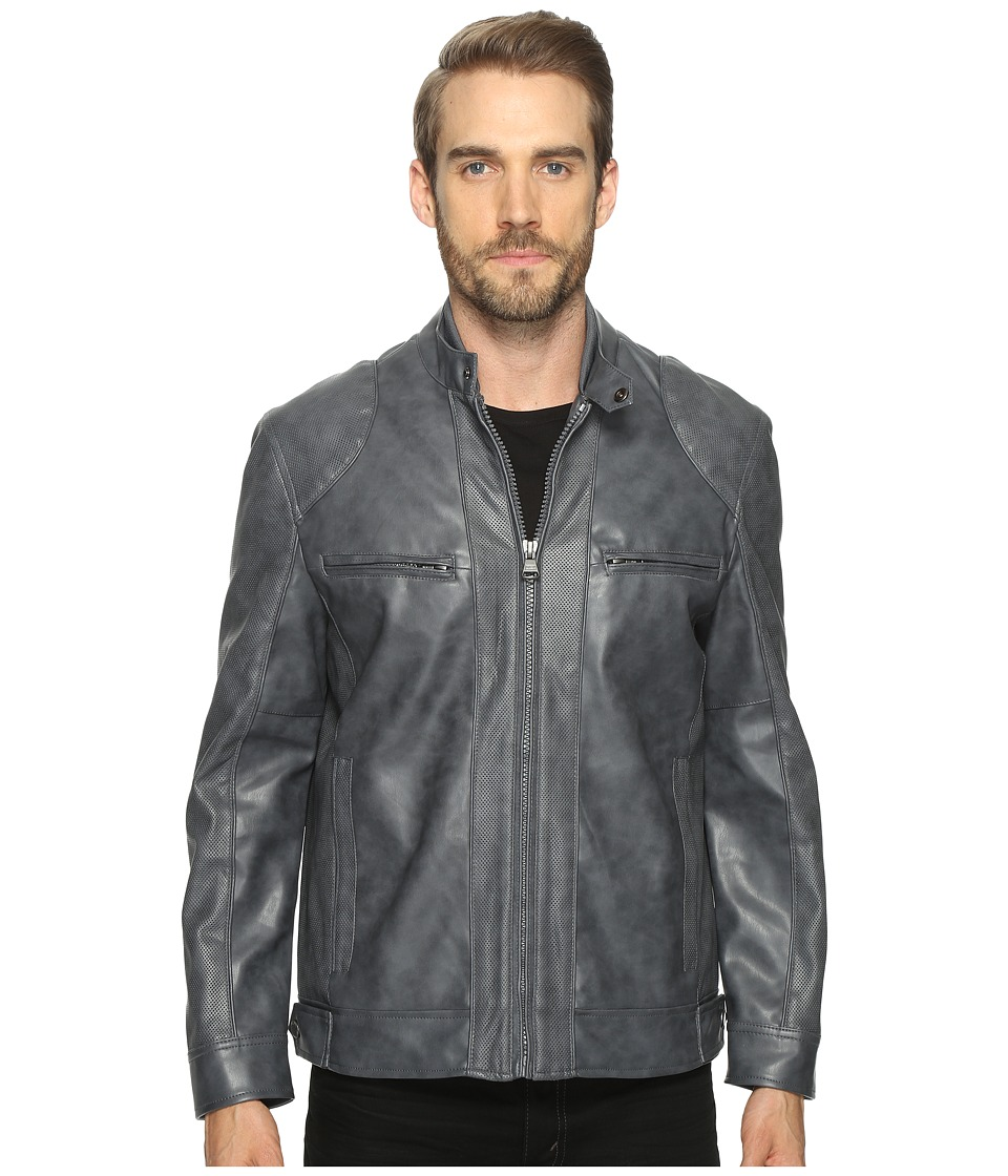 Marc New York by Andrew Marc - Corwin Moto Jacket (Iron) Mens Coat