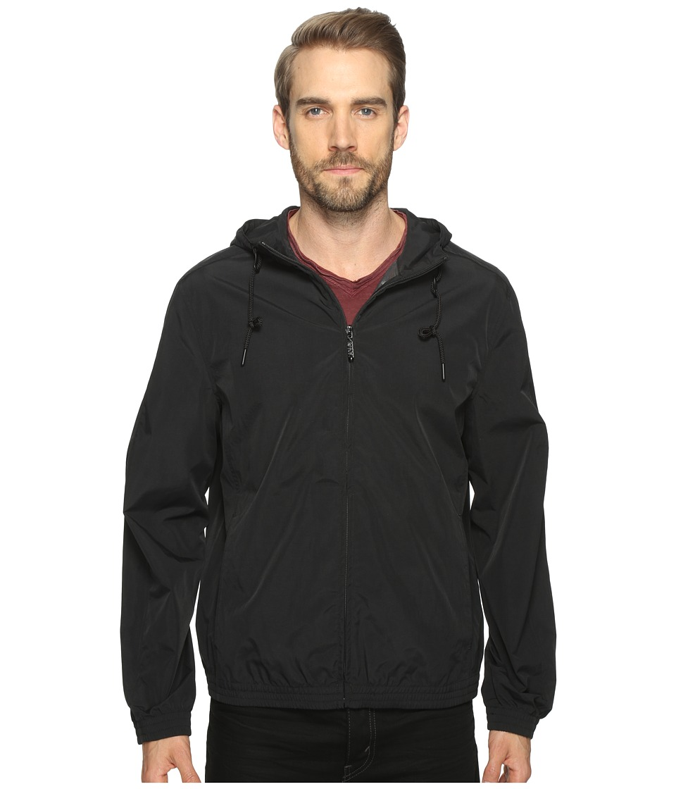 Marc New York by Andrew Marc - Rogers Hooded Bomber Jacket (Black) Mens Coat