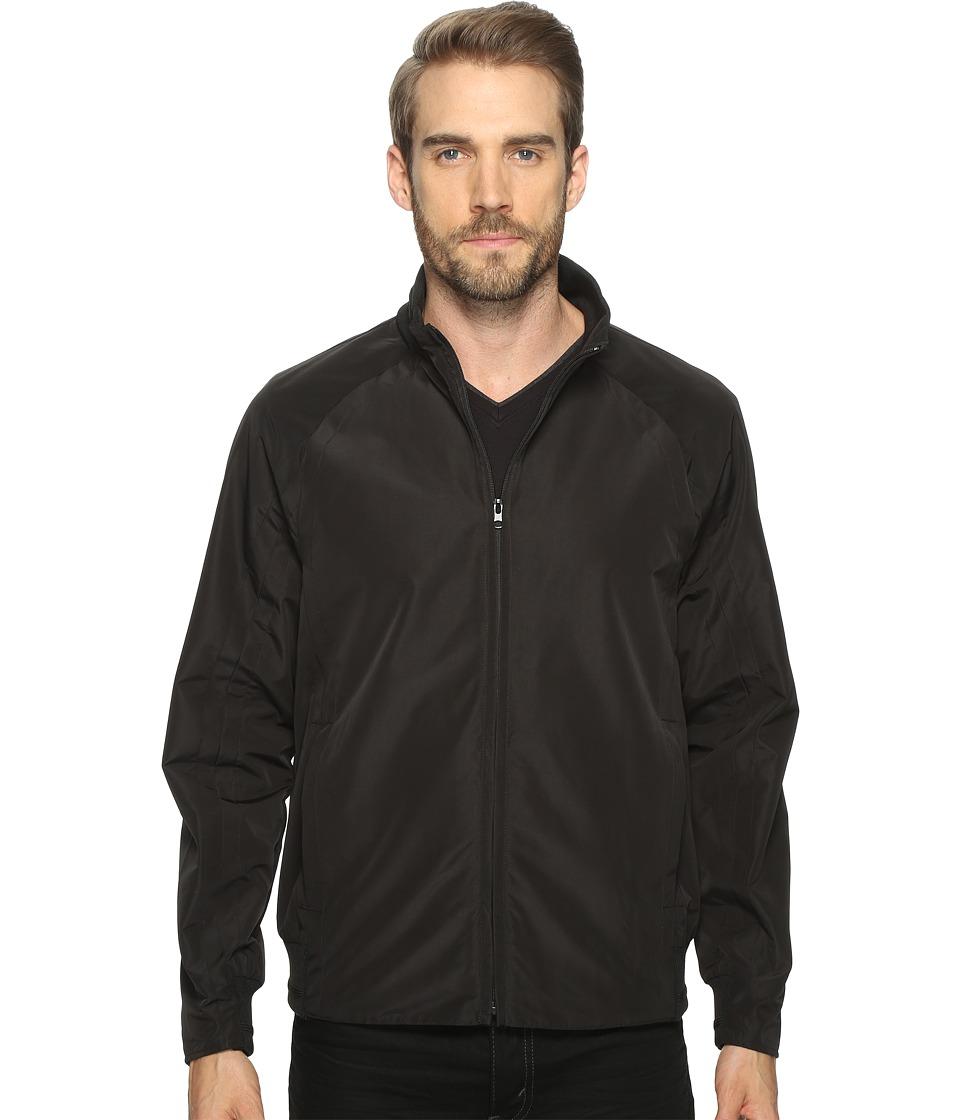 Andrew Marc Gosman Tech Oxford Bomber Jacket (Black) Men'...