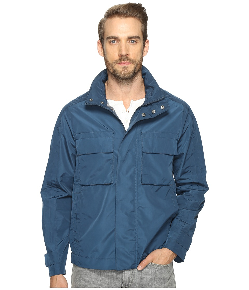 Marc New York by Andrew Marc - Hewlett Tech Oxford Trucker Jacket (Aqua) Mens Coat