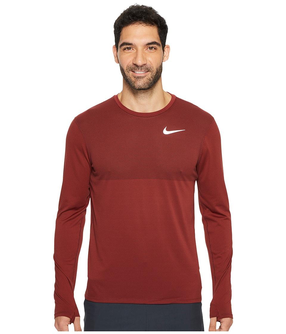 Nike Zonal Cooling Relay Long Sleeve Running Top (Dark Te...