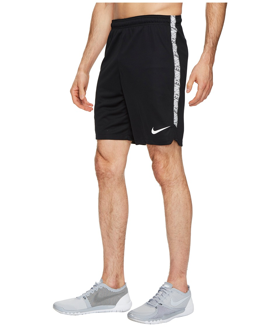 Nike Dry Squad Soccer Short (Black/White/White) Men