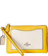 COACH - Box Program Color Block Small Wristlet
