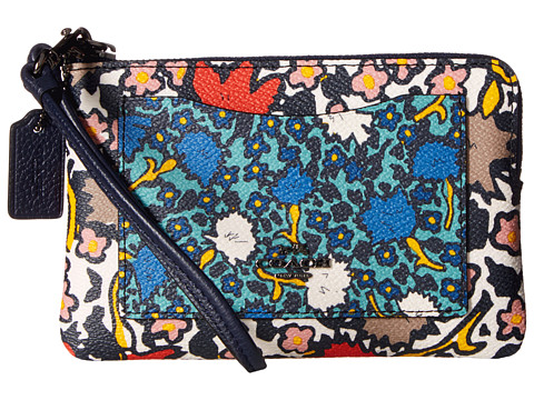COACH Mixed Yanke Floral Small Wristlet