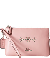 COACH - Box Program Western Rivets Small Wristlet