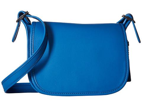 COACH Glovetanned Leather Saddle Bag 18 - DK/Lapis