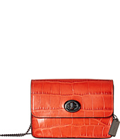 COACH - Embossed Croc Turnlock Chain Crossbody