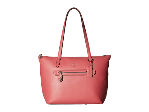 COACH Pebbled Taylor Tote - SV/Peony