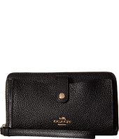 COACH - Polished Pebbled Leather Phone Wallet