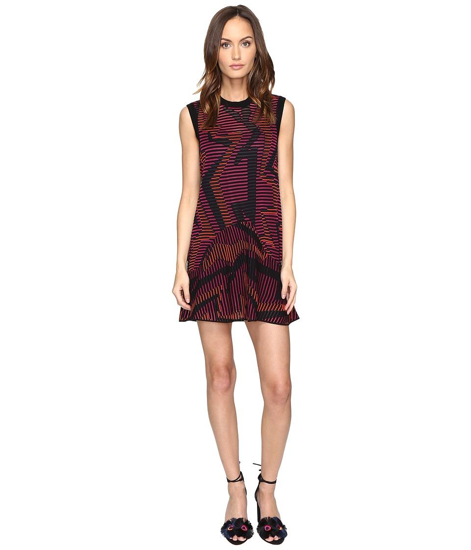 M Missoni Colorful Geo Knit Dress (Fuchsia) Women