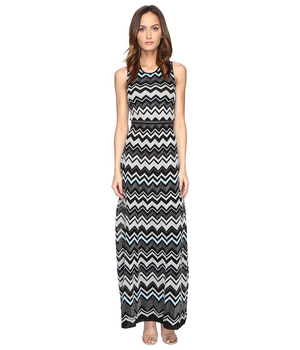 M Missoni Lurex Zigzag Maxi Dress (Black) Women