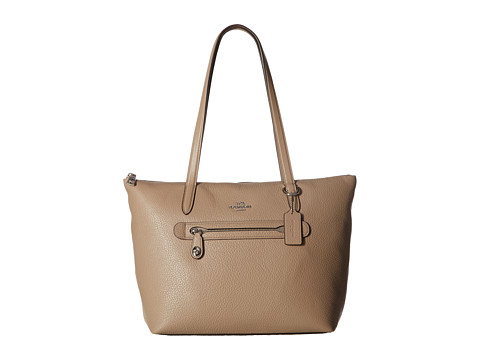 COACH Pebbled Taylor Tote - Sv/Stone