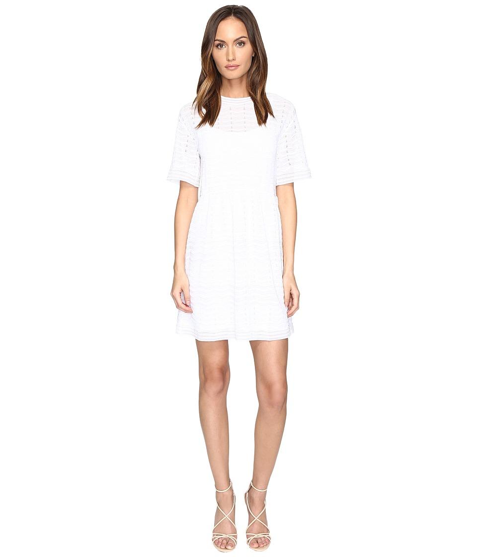 M Missoni Solid Zigzag Dress (Ivory) Women