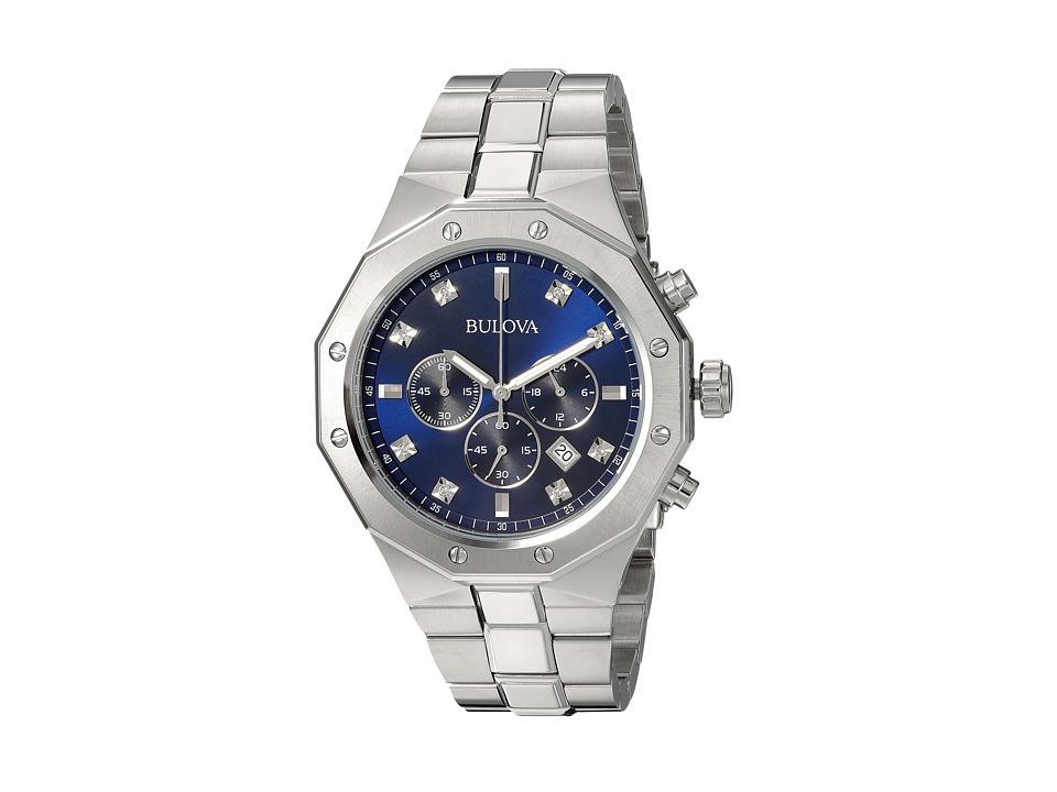 BULOVA Diamond Dial Chronograph - 96D138 (Sliver) Watches