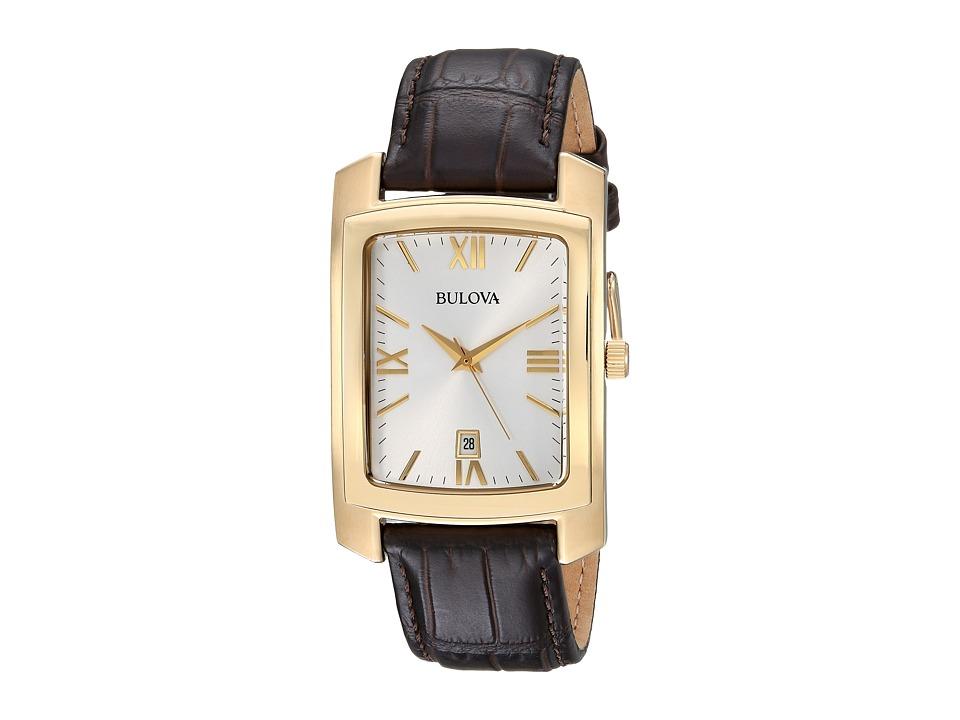 BULOVA Strap - 97B162 (Brown/Gold) Watches