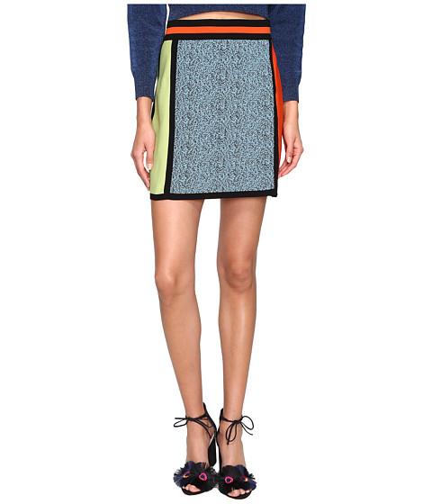 M Missoni Color Block Intarsia Skirt