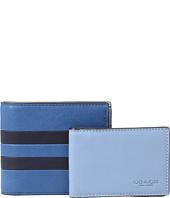 COACH - Modern Varsity Stripe Compact ID Wallet