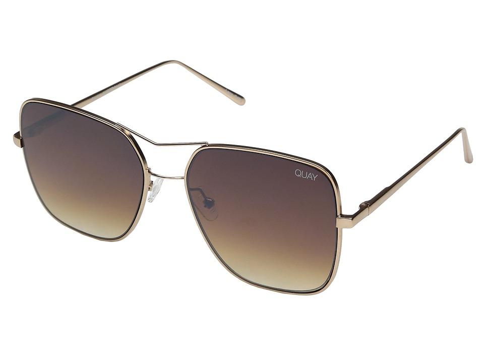QUAY AUSTRALIA Stop and Stare (Gold/Brown) Fashion Sunglasses