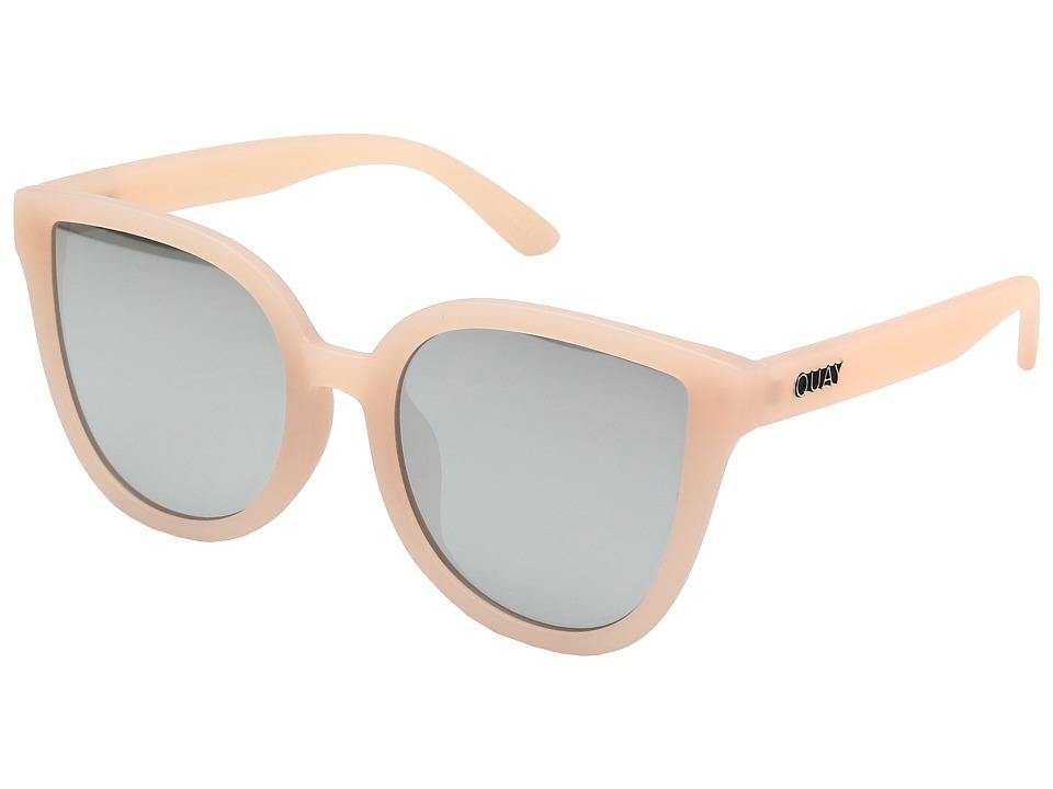 Unique Retro Vintage Style Sunglasses & Eyeglasses QUAY AUSTRALIA - Paradiso PinkSilver Fashion Sunglasses $50.00 AT vintagedancer.com